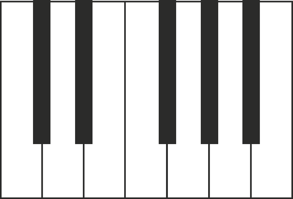 Piano Vector Music Keys Musical Instruments Plan