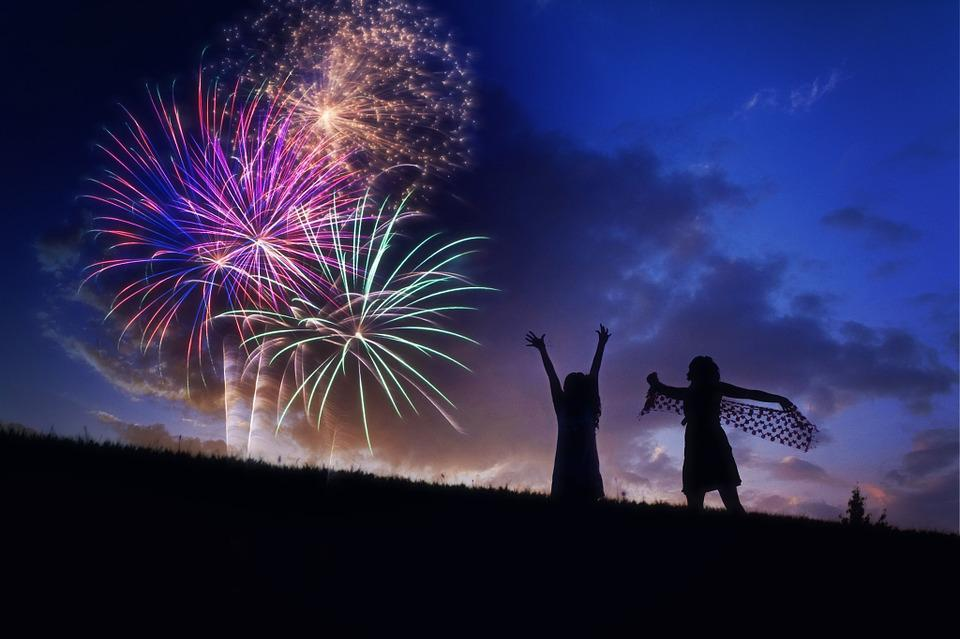 Fireworks, Silhouette, Fourth Of July, Celebration