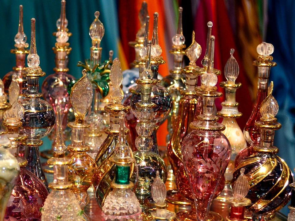 Arabische Parfums, Essenzen, Basar, Östlichen Glas
