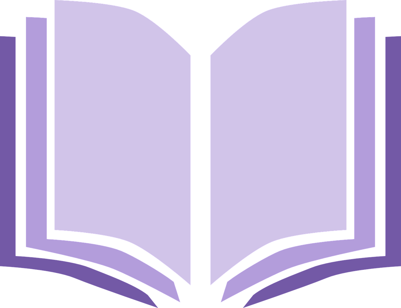 Open book painted in purple lines