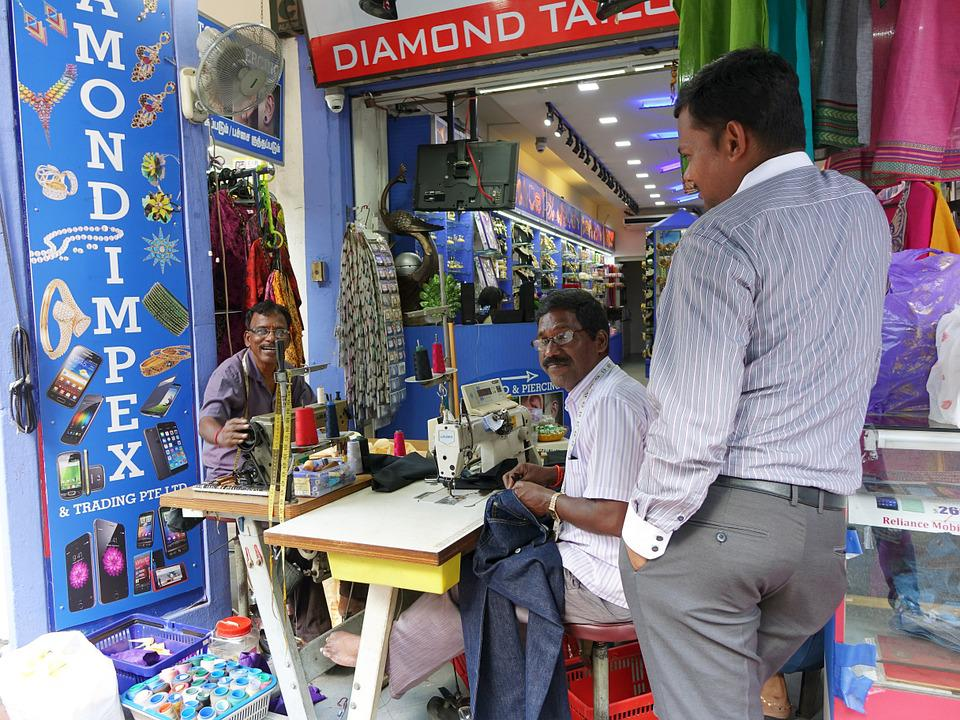 Tailors, Working, Singapore, India, Indian, Tamil, Shop