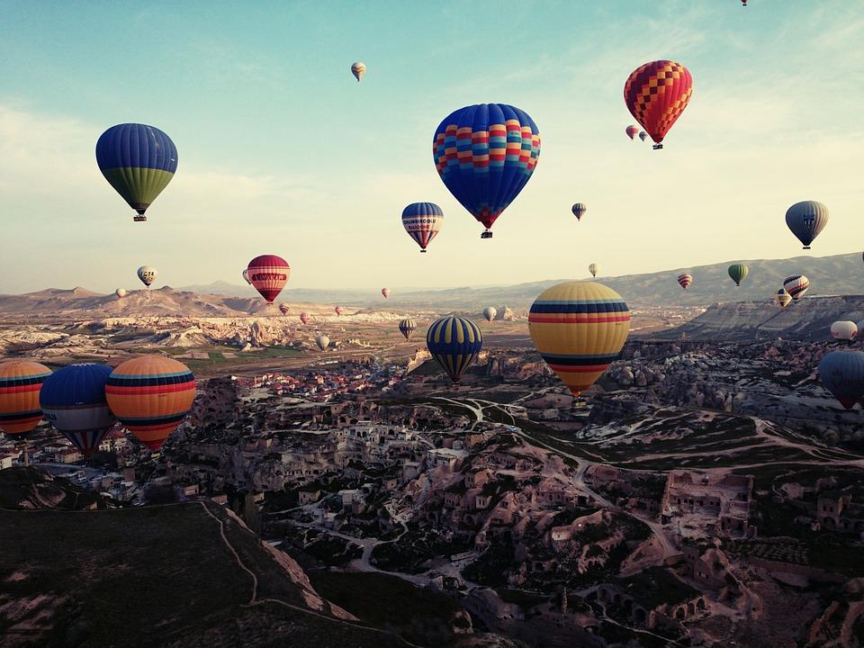 Cappadocia, ตุรกี, การเดินทาง, บอลลูนอากาศร้อน