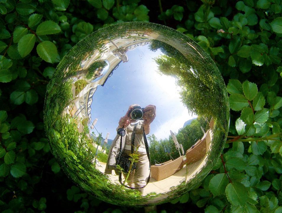 Glass Orb Reflection Garden   Free Photo On Pixabay
