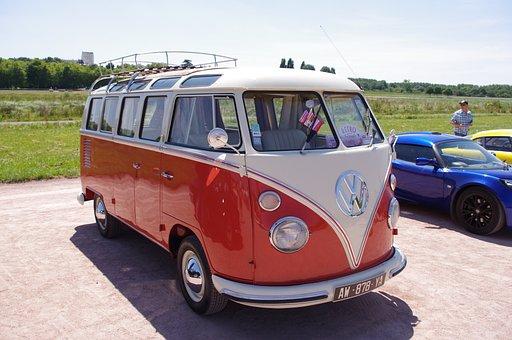 Old Car, Combi, Volkswagen, Van, Retro
