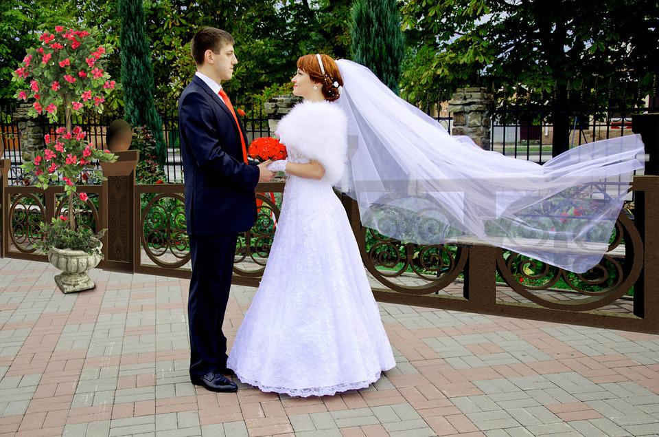 結婚式, 新郎, 花嫁, Fata, 散歩, ちょうど結婚, 自然, ドレス, 幸福, 美容, 緑の葉