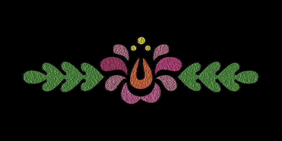 Embroidery flowers png makaroka