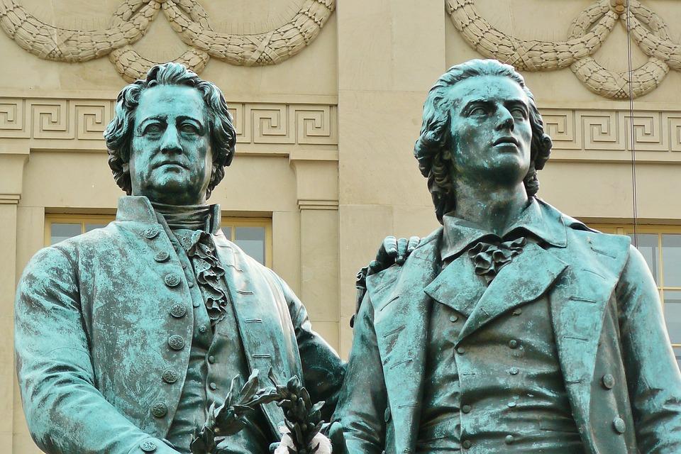 Weimar, Goethe, Schiller, Monument, Médaille De Bronze