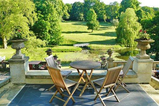 Castle Park, Hotel, Terrace, Park