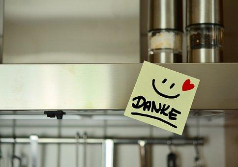 Danke, Smiley, Kochen, Essen, Herz