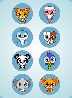 Animal, Cute, Cartoon, Design, Funny