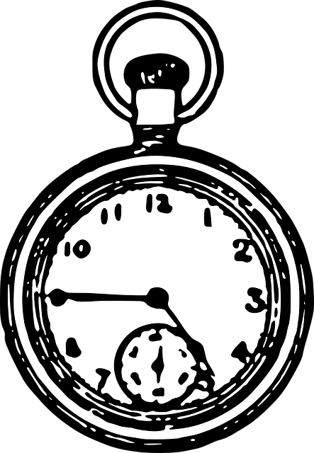 pocket watch time 183 free vector graphic on pixabay