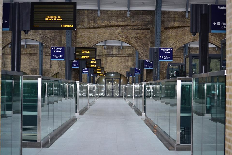 Londres, estación de tren, viaje, Inglaterra, estación, tren