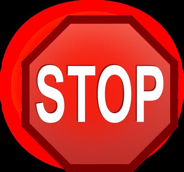 kostenlose vektorgrafik stop stopp schild