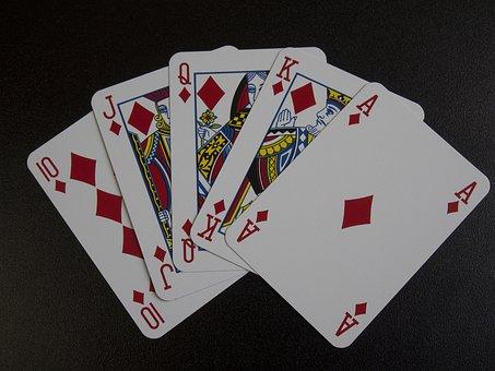 Playing Cards, Royal Flush, Poker