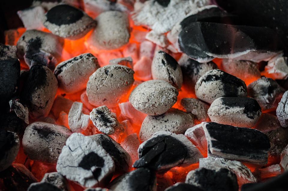 バーベキュー, 石炭, 炎, グリル, Braai, ステーキハウス, 燃える, 夏, 肉, ロースト, 火