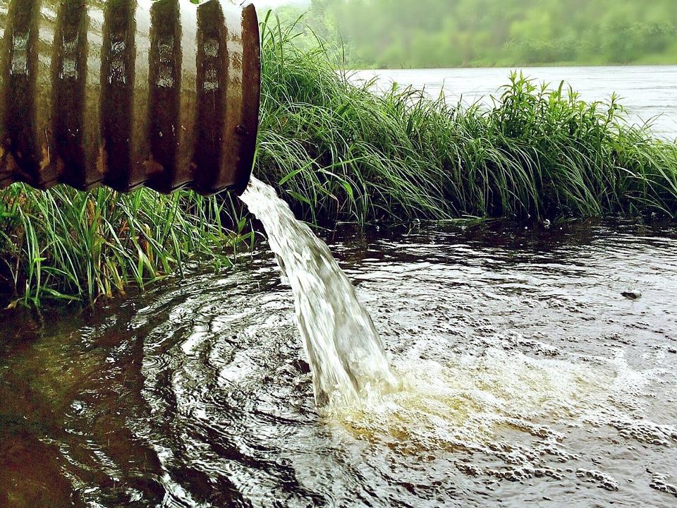 水, 環境, 自然, 雨水, 川, パイプ
