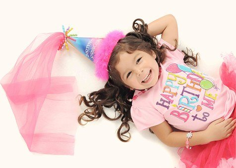 Girl, Fairy, Happy, Pink, Birthday, Kid
