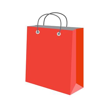 ペーパー バッグ, 赤, ショッピング, 女性, 購入, 販売, 小売, ギフト