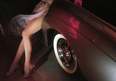 Model, Legs, Bentley, Car, Woman, Sexy