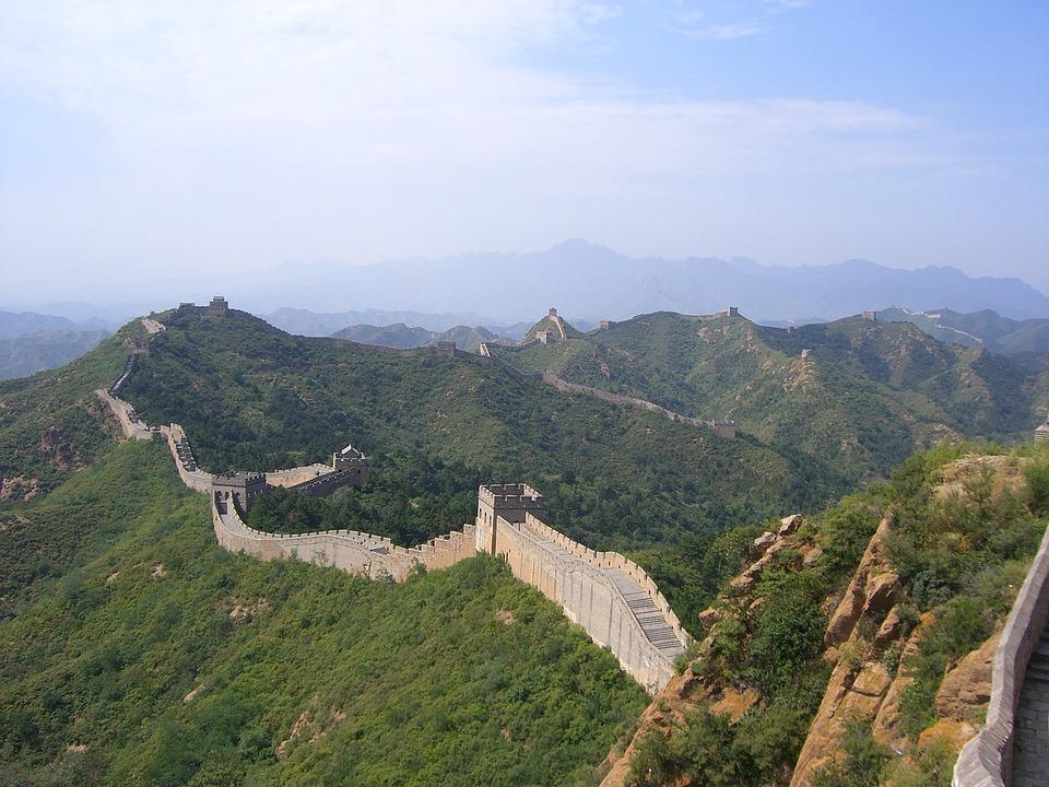 Velká Čínská Zeď, Čína, Stěna, Peking, Asie