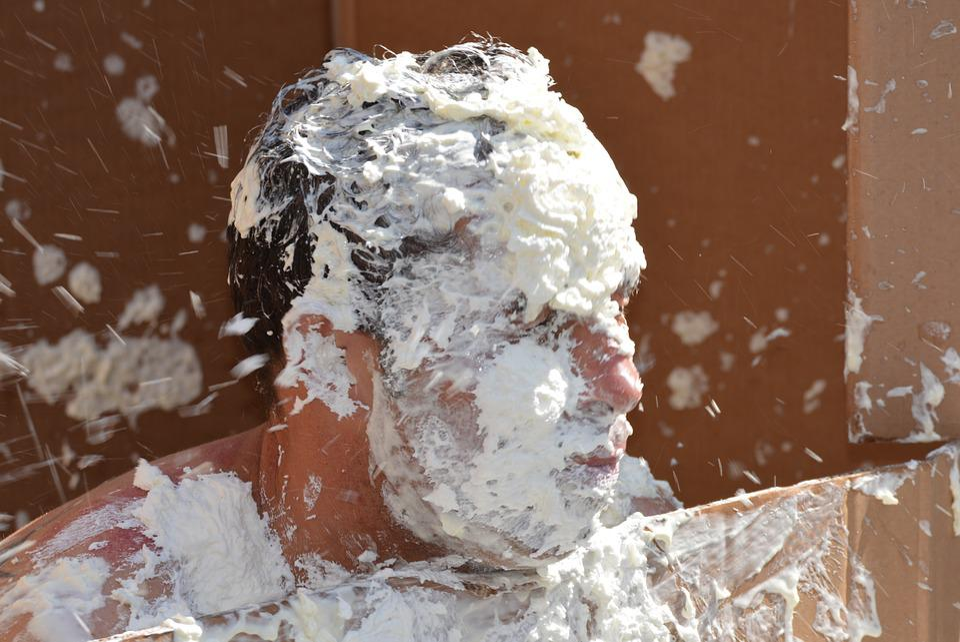 cream facial pie