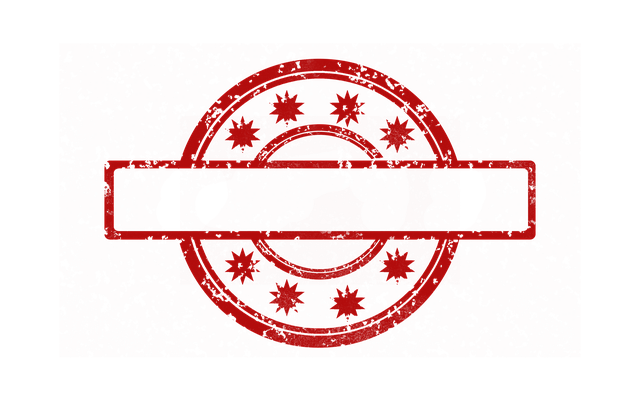 Free Illustration Stamp Template Red Empty Free