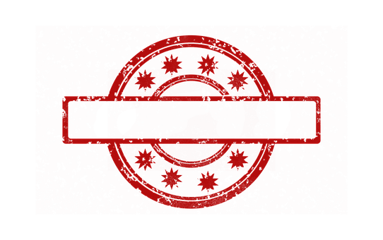 Stamp Template Red Empty Pattern