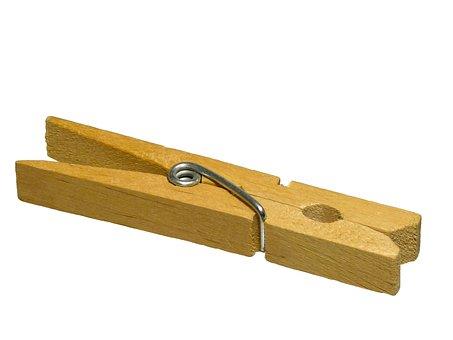 Clothes Peg, Clip, Pin, Wood