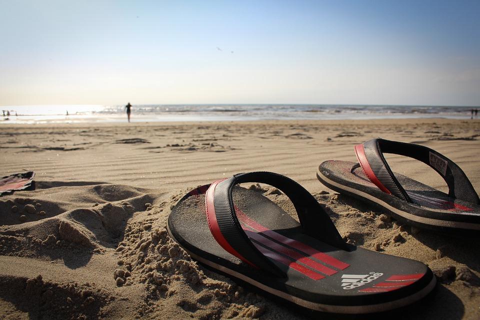 Free photo: Bath Slippers, Flip Flops, Beach
