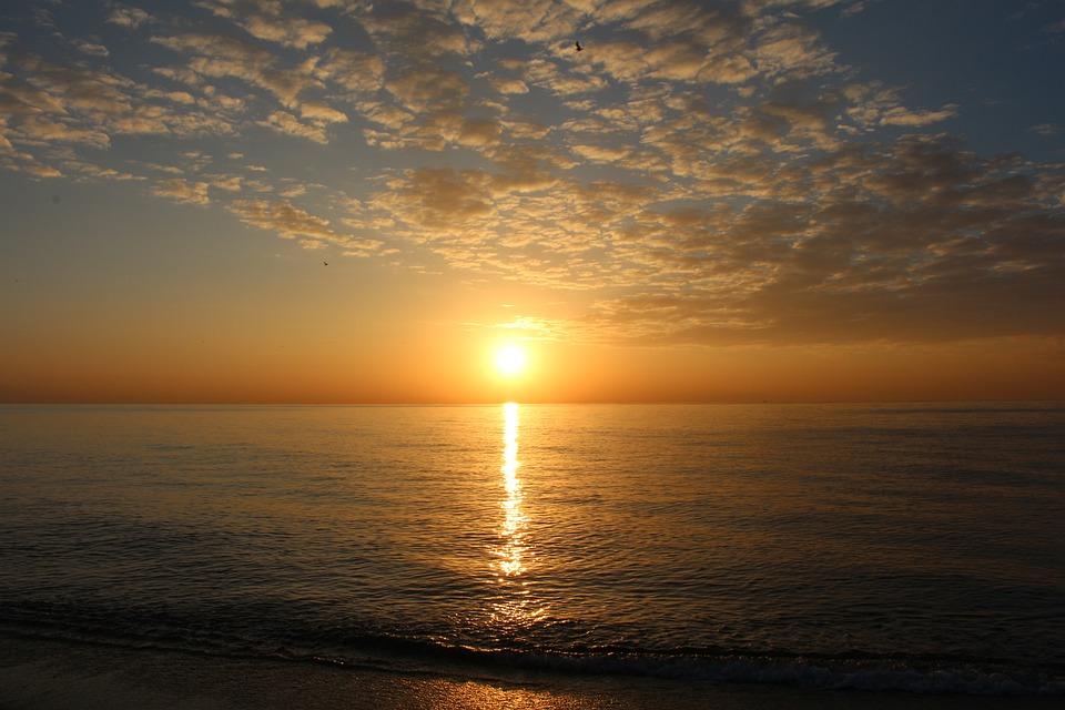 Sunset, Sea, Spain, Beach, Brand, Landscape, Clouds