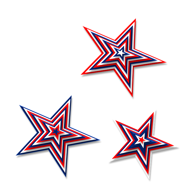 Free illustration: Stars, 3D, Red, White, Blue - Free ...