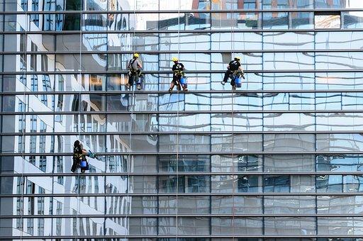 Glass Facade, Window Cleaner, Facade