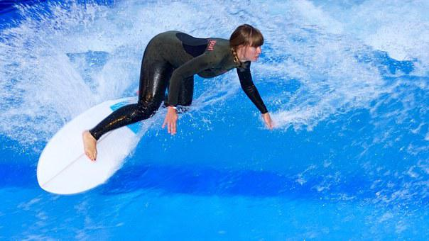 Surfing, Surf, Surfboard, Courage, Skill