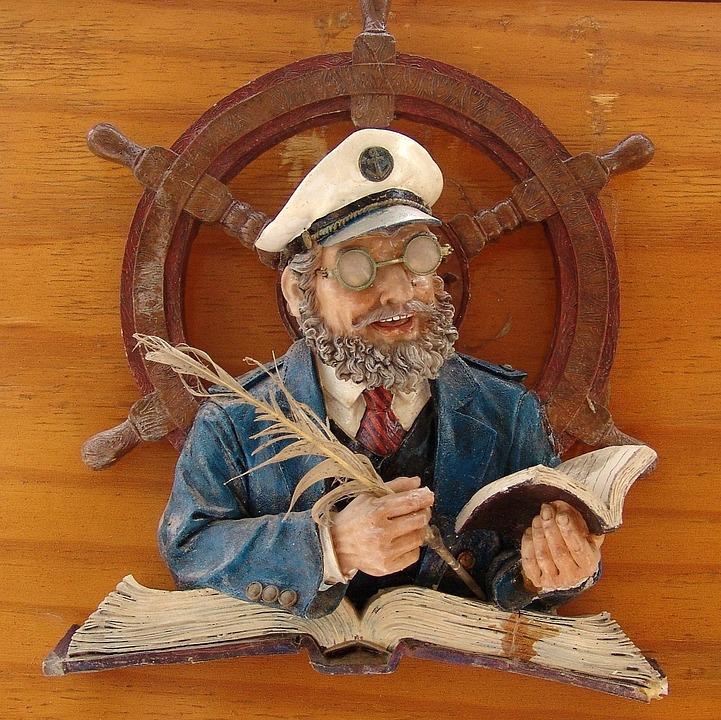 船旅, キャプテン, 船員, ラダー, 航海日誌, 肖像画, シンボル