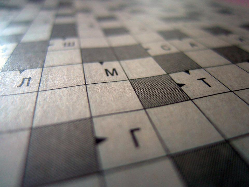 Crossword Puzzle Background Think Intelligence