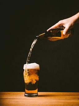 Beer, Pouring, Glass, Drink, Alcohol