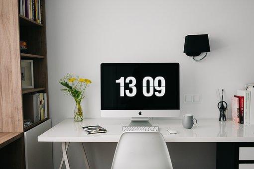 ホーム, オフィス, ワークスペース, デスク, デザイン, 創造的です