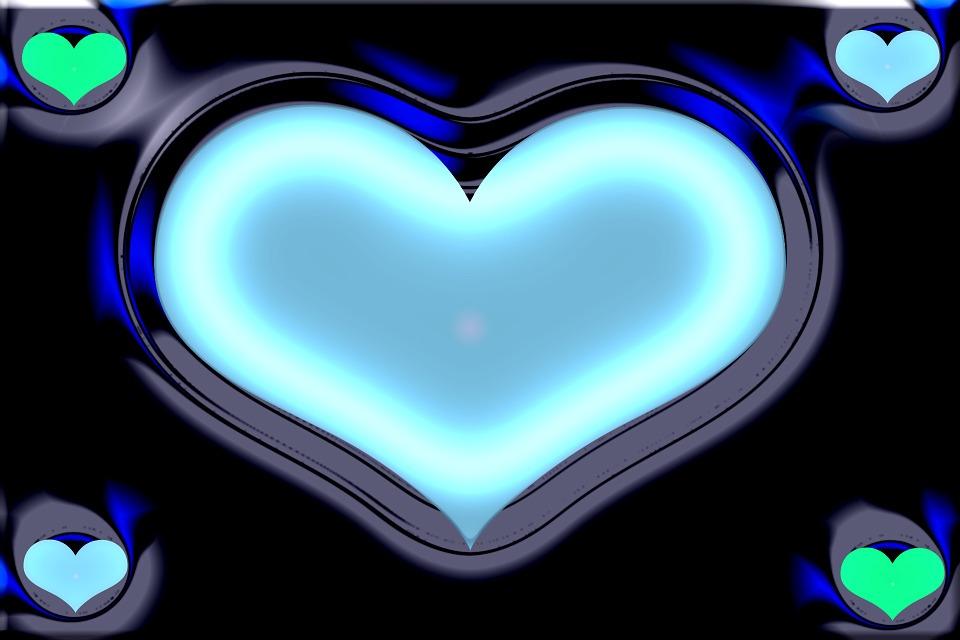 Illustration gratuite coeur cadre fond fond d 39 cran - Images coeur gratuites ...