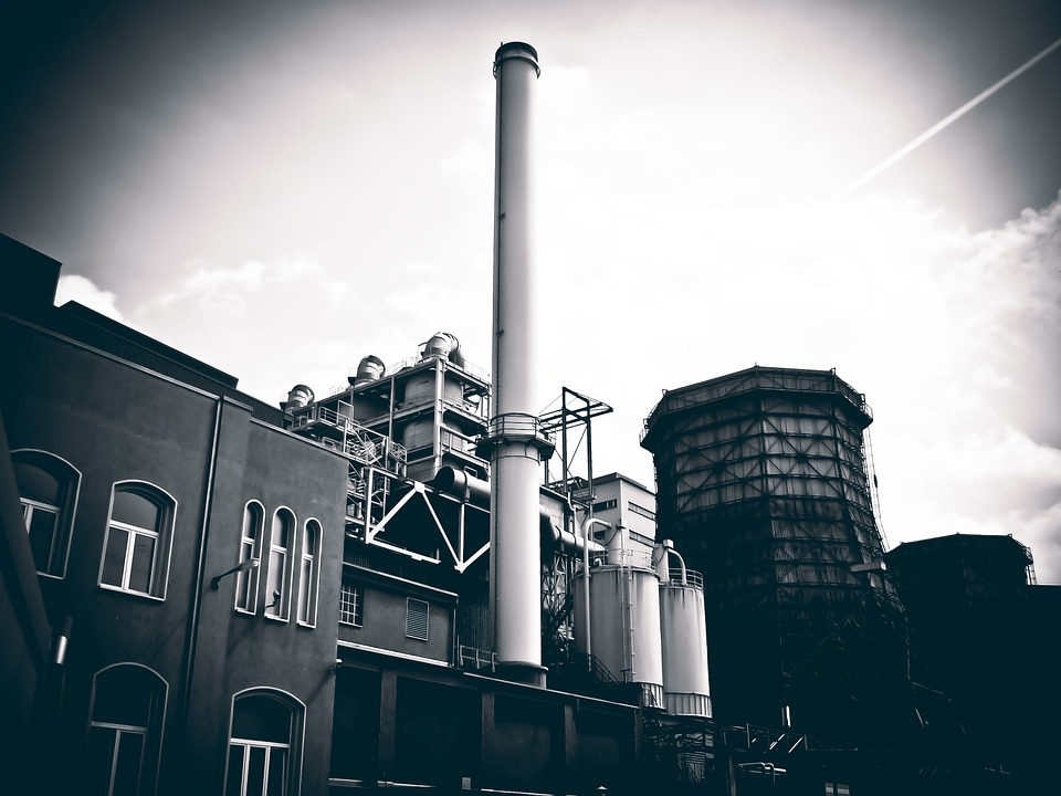 industrial plant chimney industry factory - Industrial