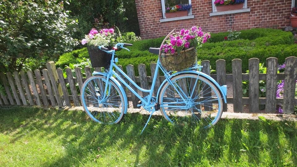 Free photo bike art garden flowers free image on for Cd market galeria jardin