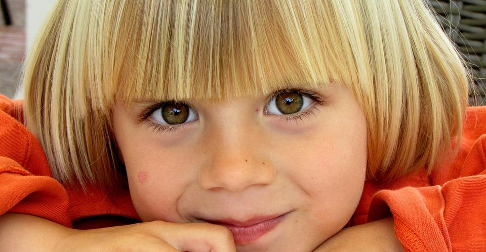 Kind, Blond, Kleine, Gelukkig, Ogen, Schoonheid, Young