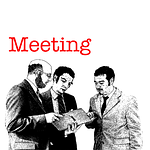 men, meeting, encounter