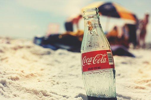 Coca Cola Bottle Beach Retro Vintage Summe