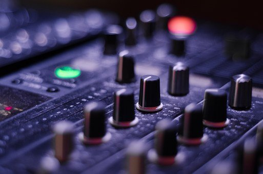 Mixer Knobs Panel Sound Music Recording Eq