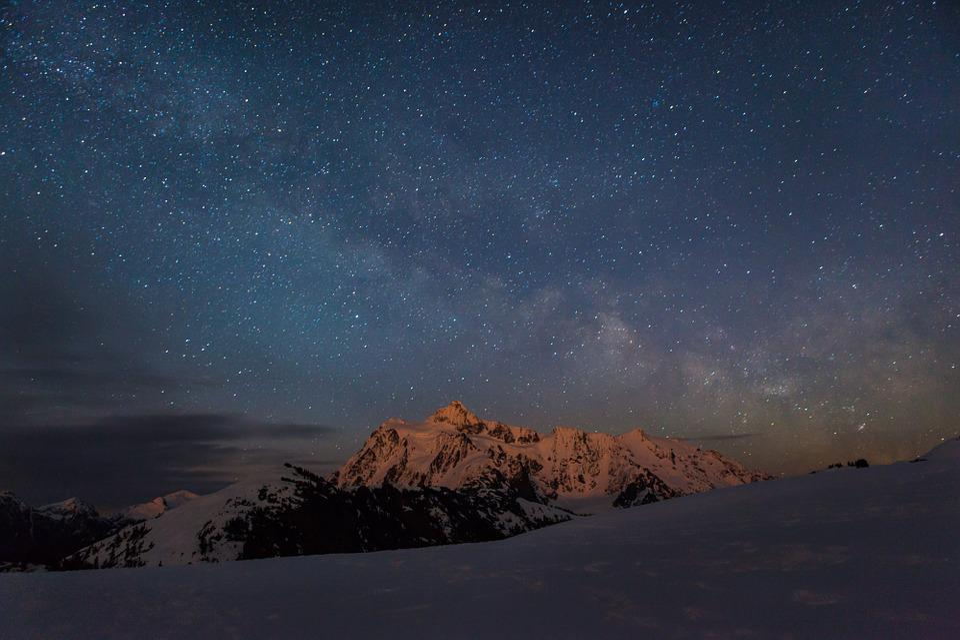 stars mountain night - photo #45