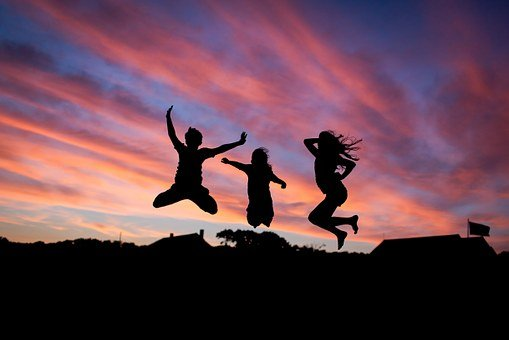 People, Jumping, Happiness, Happy, Fun
