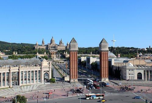 Vista Montjuic Barcelona
