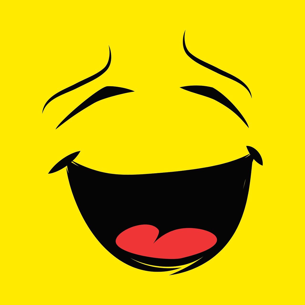 Как сделать смех смайлик