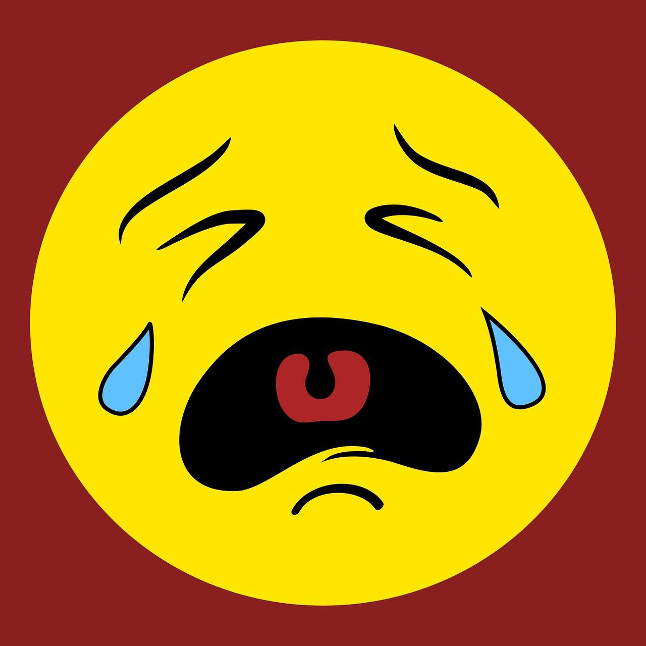 Картинка плачущий смайлик