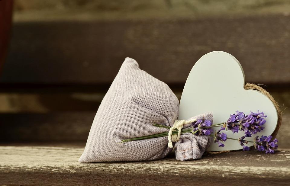 ラベンダー, 香り, ロマンチックな, 心, ラベンダー バッグ, 香りのサシェ, ラベンダー色の花